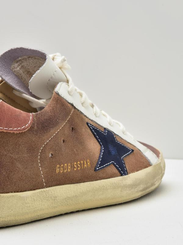 SNEAKERS SUPERSTAR_TAN LEATHER-INDIGO STAR