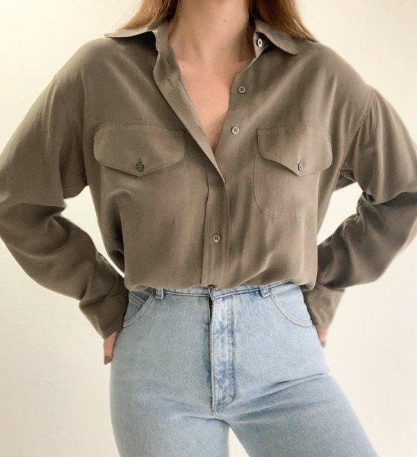 Silk Utility Shirt | Vintage