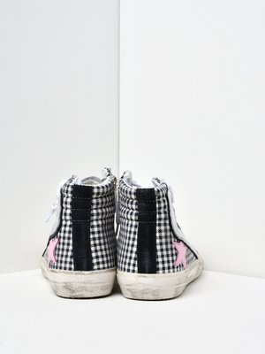 SNEAKERS SUPERSTAR_WHITE CHECK-PINK STAR