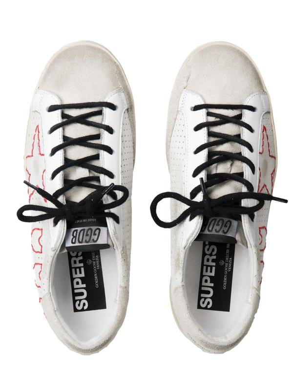 SNEAKERS SUPERSTAR_WHITE LEATHER 3 HEARTS 1 STAR
