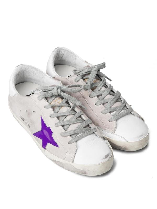 SNEAKERS SUPERSTAR_WHITE LEATHER VIOLA STAR