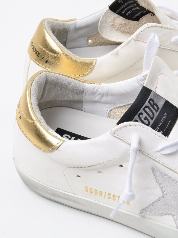 SNEAKERS SUPERSTAR_WHITE LEATHER-WASHED GOLD