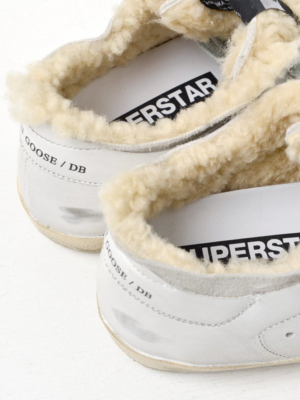SNEAKERS SUPERSTAR_WHITE SHEARLING LEOPARD STAR