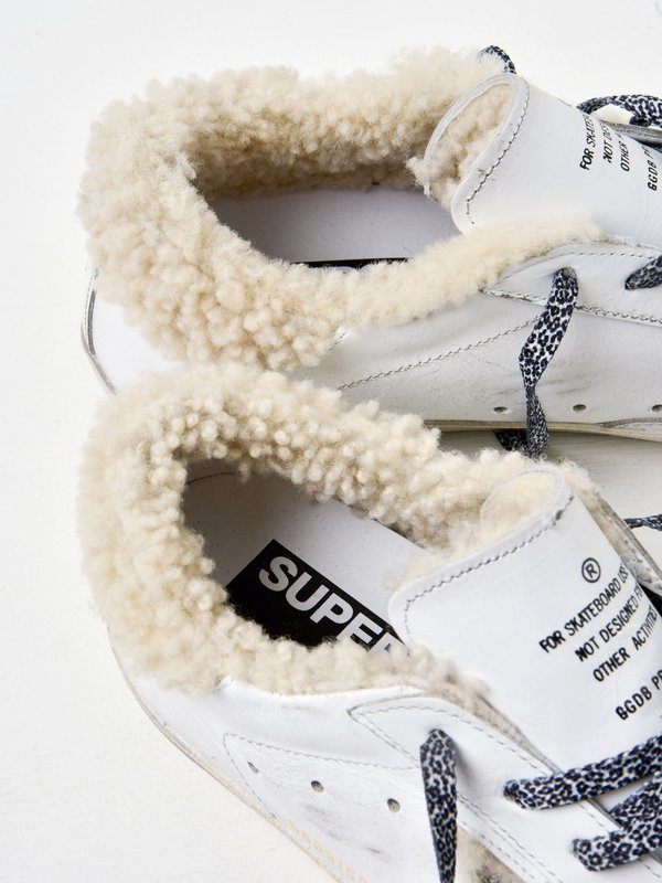 SNEAKERS SUPERSTAR_WHITE SHEARLING-SILVER GLITTER