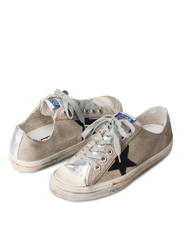 SNEAKERS V STAR 2_SAND SUEDE SILVER