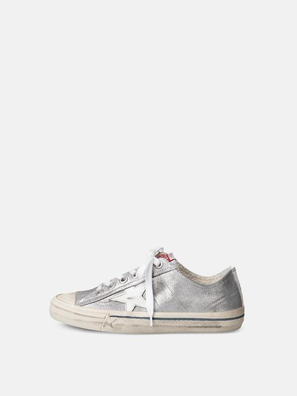 SNEAKERS V STAR 2_SILVER SUEDE WHITE STAR