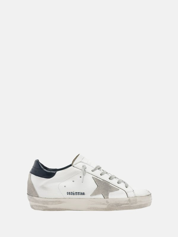SUPERSTAR LEATHER UPPER STAR SHINY LEATHER HEEL