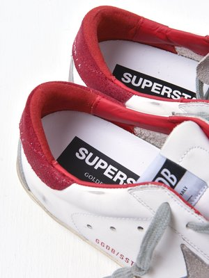 SUPERSTAR LEATHER UPPER SUEDE STAR GLITTER HEEL