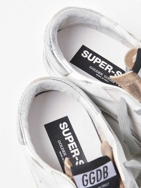 SUPERSTAR LEATHER UPPER SUEDE STAR LAMINATED HEEL