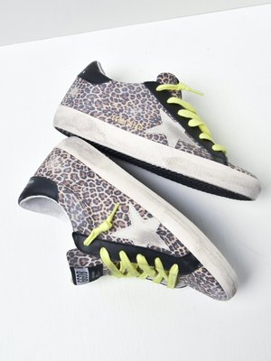 SUPERSTAR LEOPARD UPPER SUEDE STAR LEATHER HEEL
