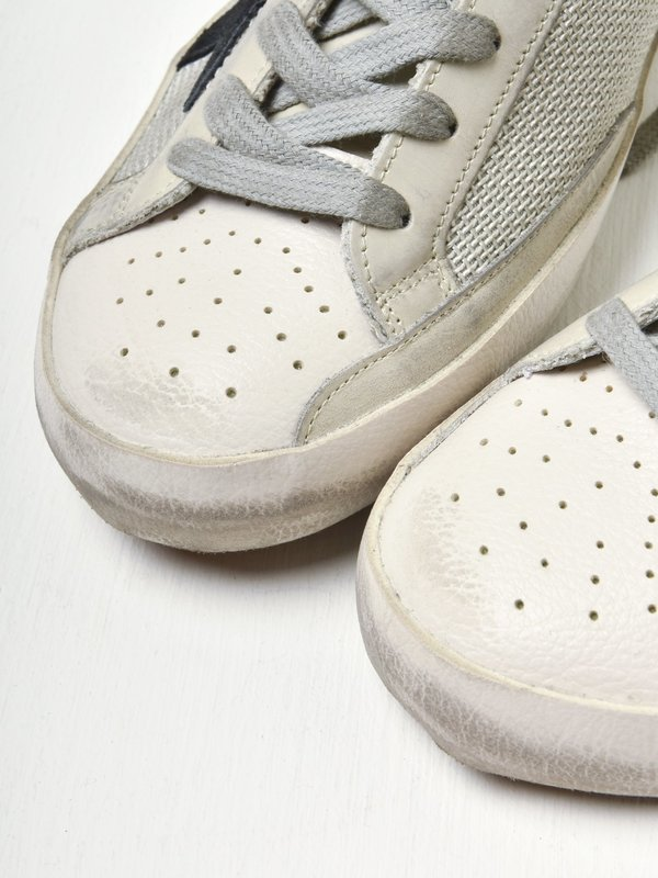 SUPERSTAR NET UPPER SUEDE STAR LEATHER HEEL