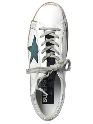 Superstar Sneaker_WHITE/PETROLEUM STAR