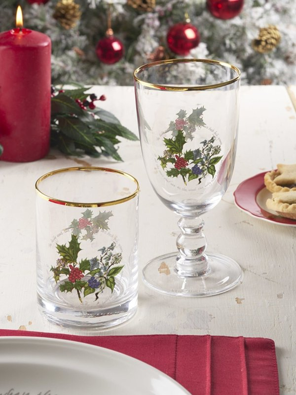The Holly and The Ivy Set of 4 Goblets