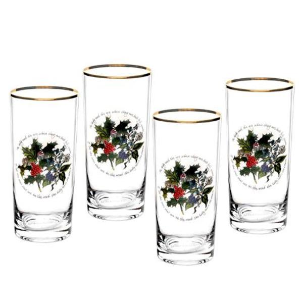 The Holly and The Ivy Set of 4 Highballs