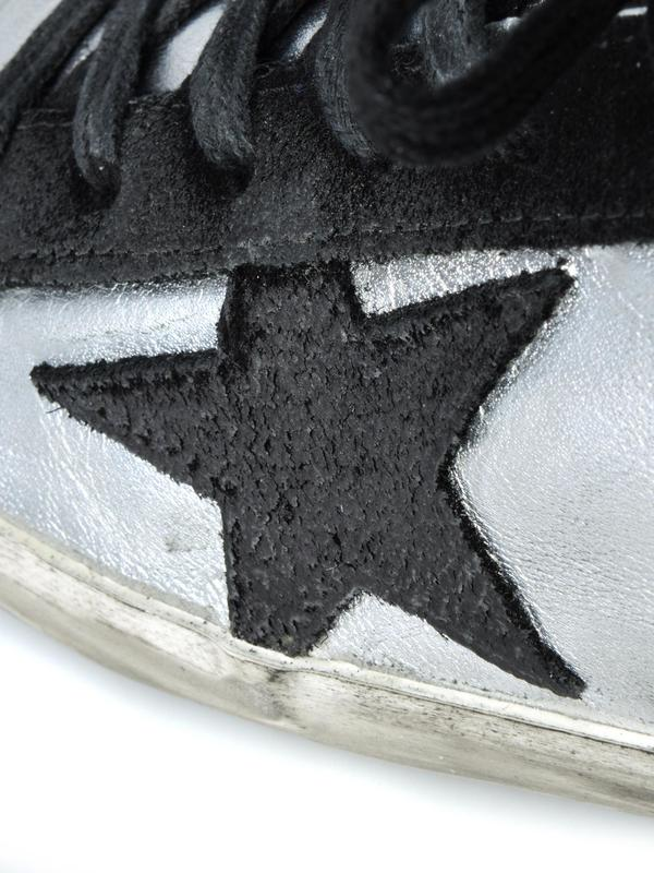 W. SNEAKERS SUPERSTAR_SILVER BLACK LEATHER