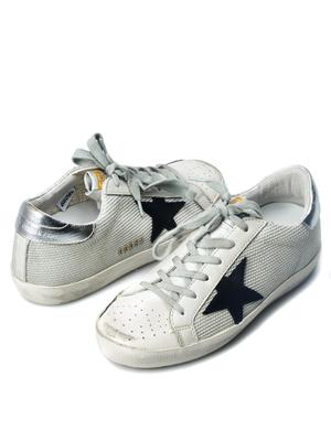 W. SNEAKERS SUPERSTAR_WHITE CORD/SILVER LUREX