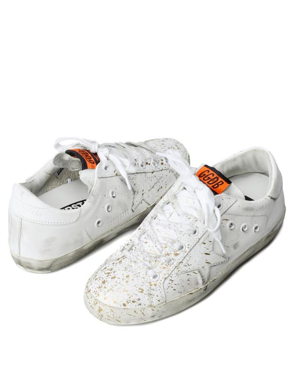 W. SNEAKERS SUPERSTAR_WHITE LEATHER/GOLD PAINT
