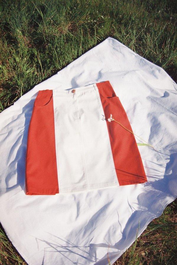 SIZ SAGO SKIRT - White + Orange