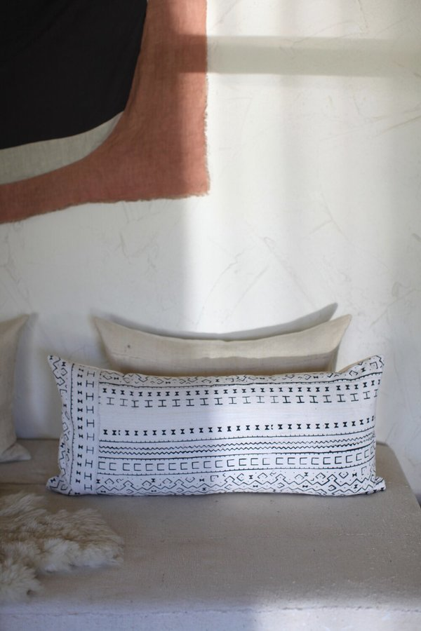 Unknown Mudcloth Lumbar Pillow
