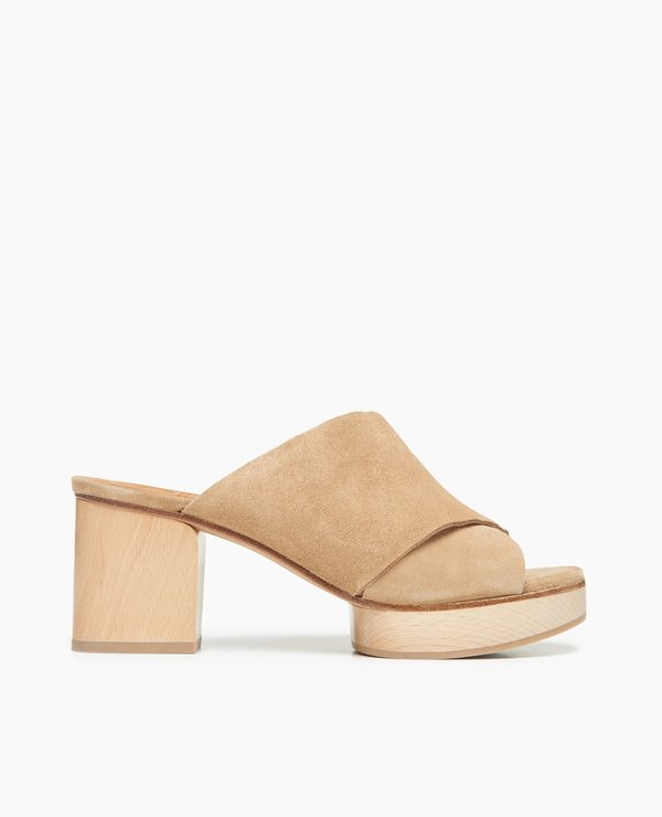Coclico Richie Wood Heel shoes - Tobacco