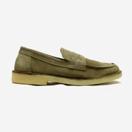 Astorflex Mokaflex Suede Loafer Shoes - Stone