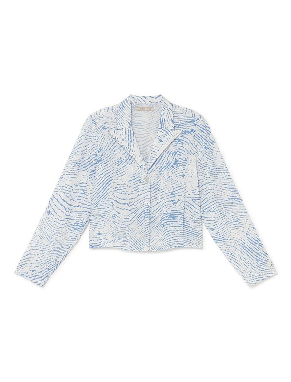 Paloma Wool CSI TOP - WHITE/BLUE