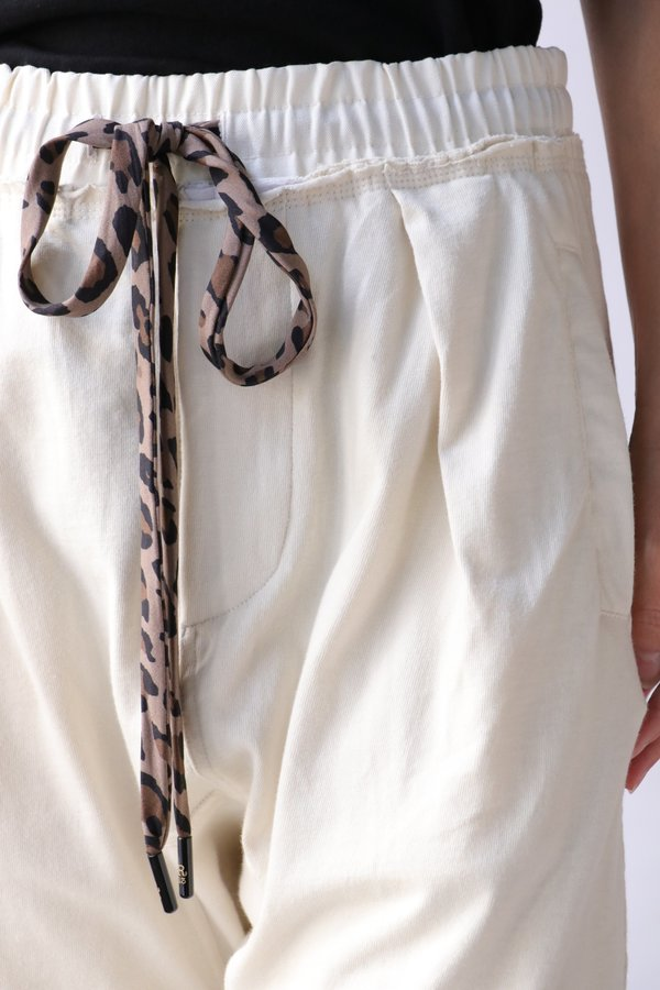 R13 Harem Sweatpant in Dirty White.