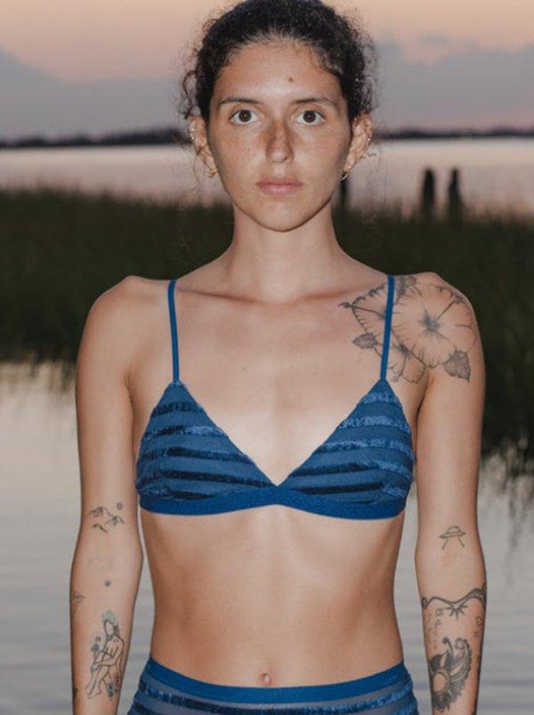 Baserange Mississippi Bra - Darya Blue Stripe