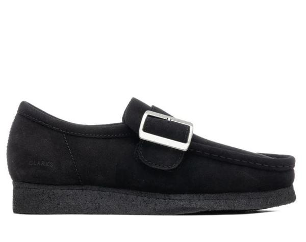 Clarks Wallabee Monk Shoe - Black Suede