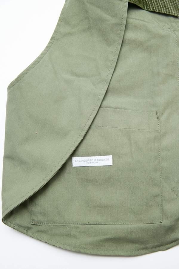Engineered Garments PC Poplin Shoulder Vest - Olive