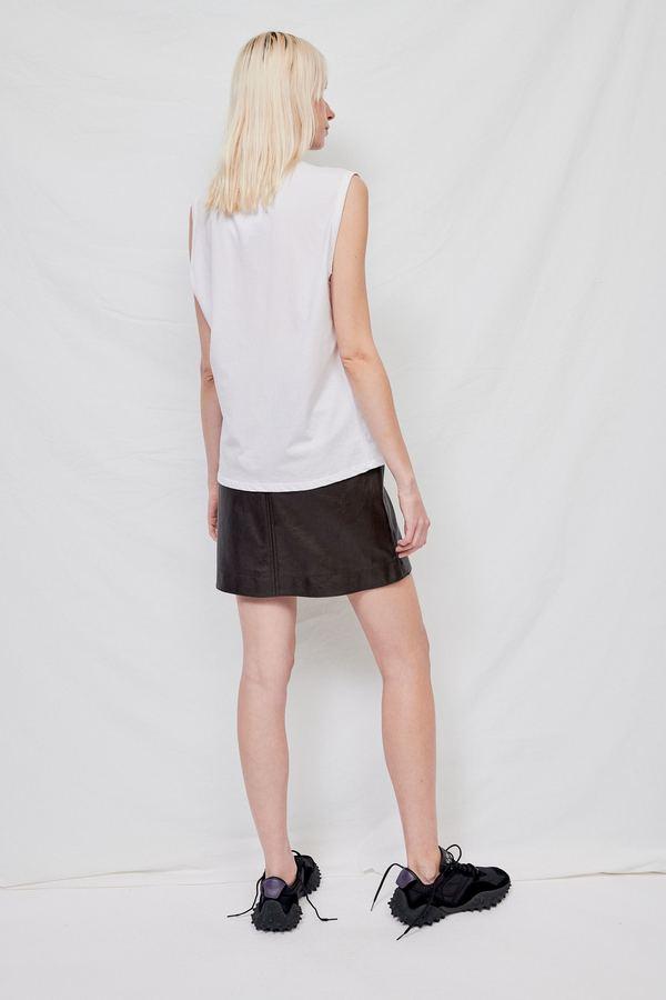 Gabriela Coll Garments No.33 Sleeveless T-Shirt - WHITE