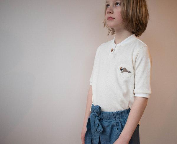 Kids Devon's Drawer Chickadee Shirt - Natural