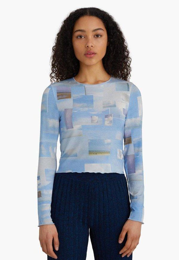 Paloma Wool Sky Long Sleeve Top - Nuvole