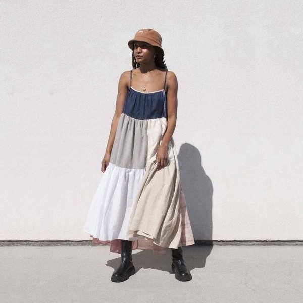 Neutral Patchwork Dress No. 11