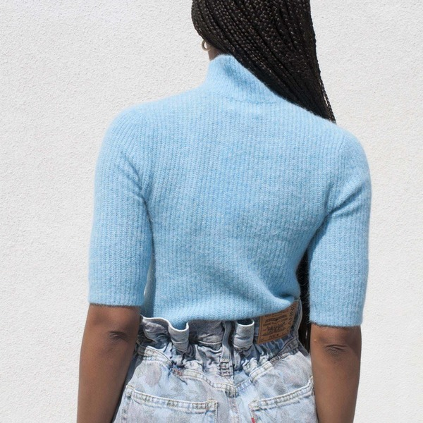 Ganni Soft Wool Knit Top - Bachelor Blue