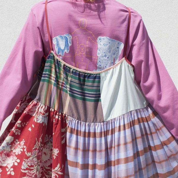 LA RÉUNION Vibrant Patchwork Dress No. 19