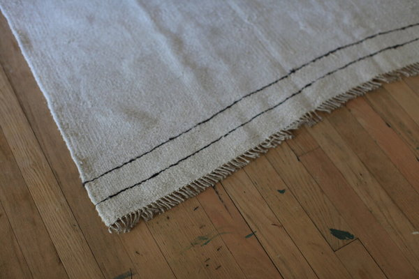 nomad collectiveHand-stitched Turkish Kilim rug - cream