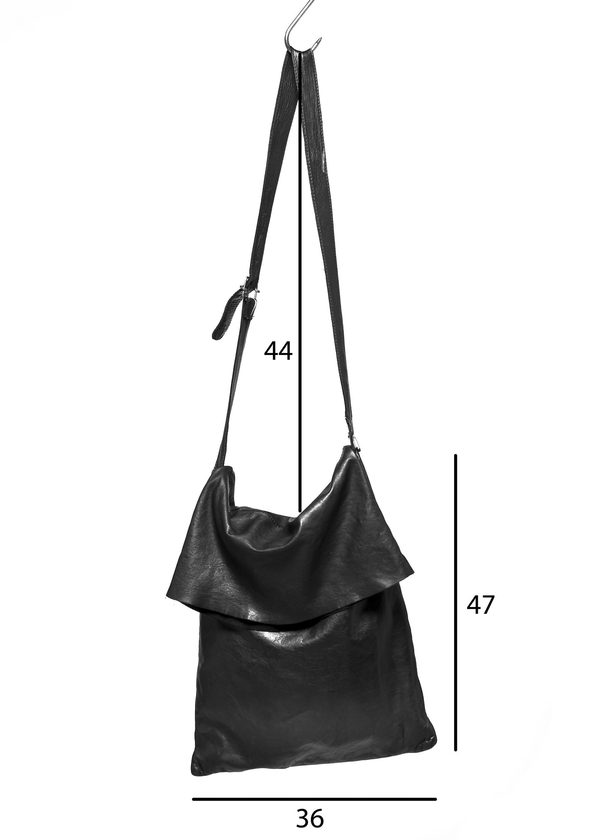 Large Foldover Crossbody Bag in Black by Serien°umerica