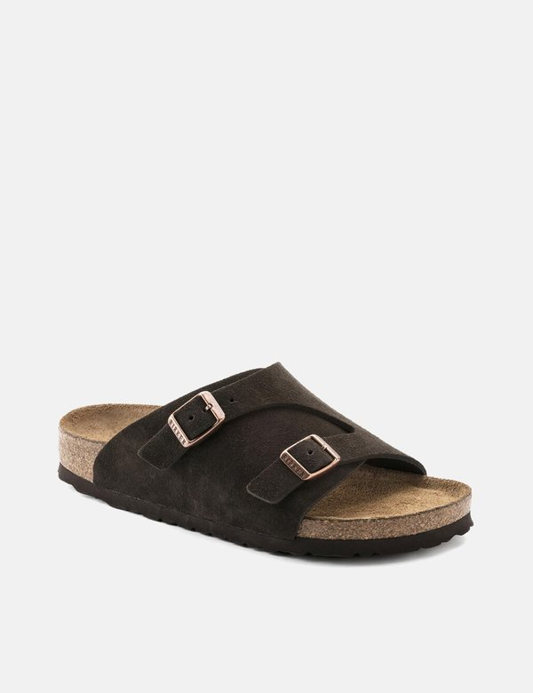 Birkenstock Zürich Suede Leather (Regular, Soft Footbed) - Mocha