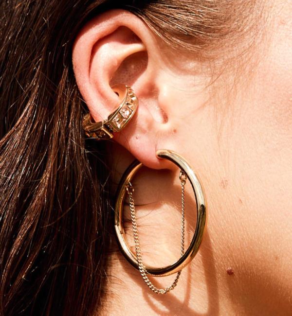 Demarson Eden Cuff Earrings - Peach/Topaz