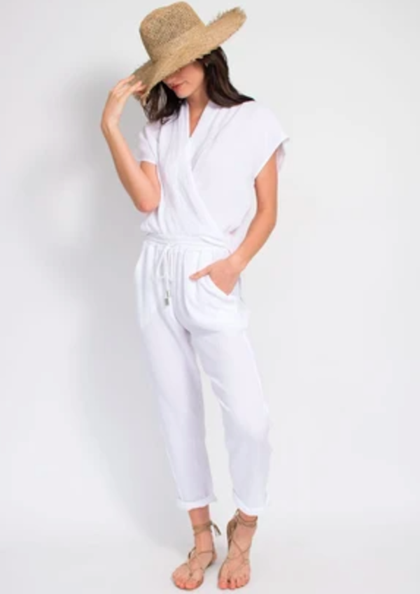 Natalie Busby Travel Pant - White
