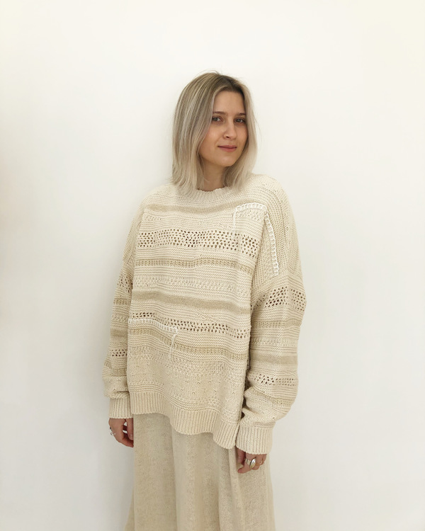 Mónica Cordera Patched Sweater - Natural