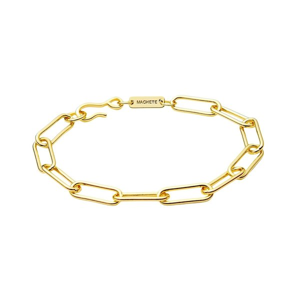 Machete Paperclip Chain Bracelet - 14k gold plated