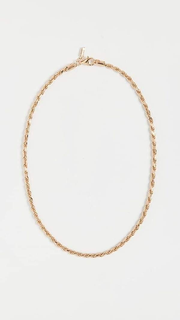 Loren Stewart Industrial Rope Chain - 14kt yellow gold