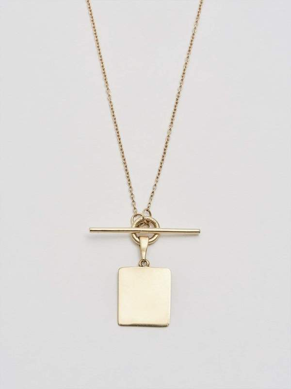 Loren Stewart Square and Toggle Necklace - 14kt yellow gold