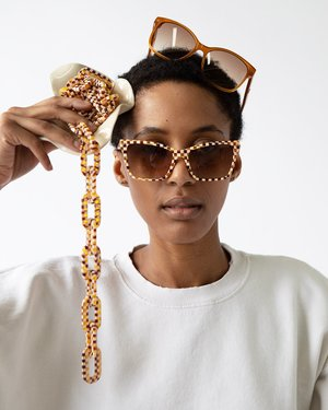 Machete Chunky Eyewear Chain - TORTOISE CHECKERS