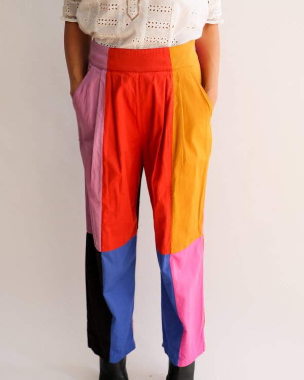 Mara Hoffman The Audre Colorblock Pants, Size 4