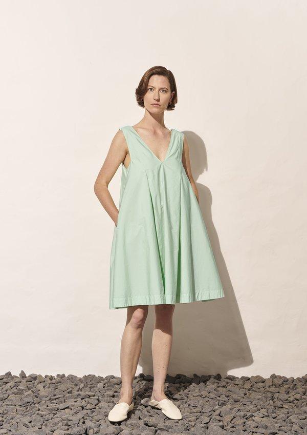 Aline Garment Dyed Wavy Midi Dres - Minty Leaf