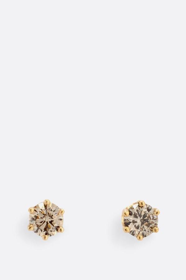 Brown diamond studs medium
