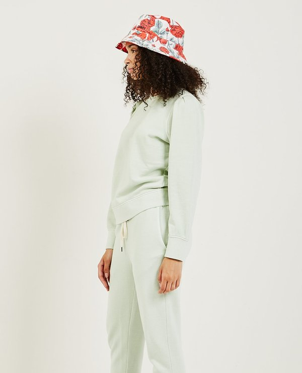 Ganni Recycled Tech ROSES Bucket Hat - Beige